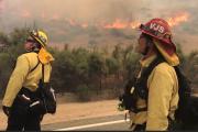 Wildfire burning rapidly near Jamul