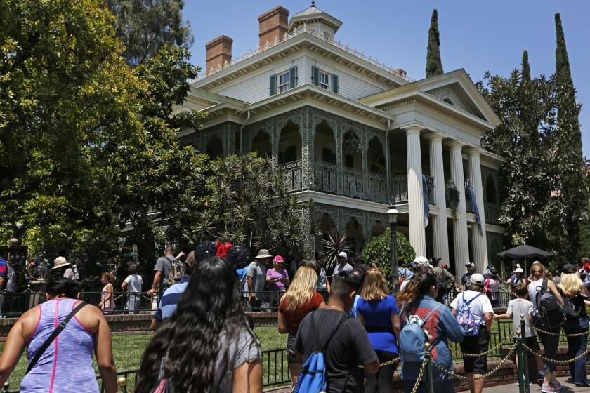 Haunted Mansion at Disneyland in Anaheim