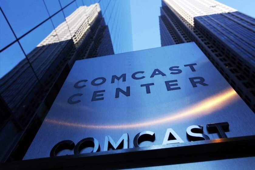 Comcast's Philadelphia headquarters as pictured in 2009. The cable giant is being sued for $100 million in a lawsuit that alleges deceptive business practices.