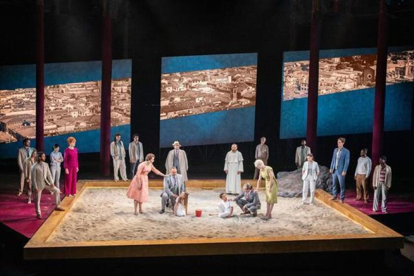 The cast in The Old Globe Festival Theatre production of 'Romeo and Juliet,' directed by Barry Edelstein, on stage through Sept. 15, 2019 in Balboa Park, San Diego.