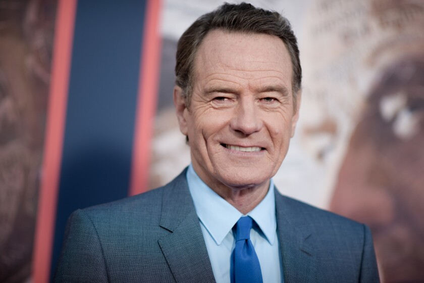 """Cinemas Palme d'Or part-owner Bryan Cranston attends the L.A. premiere of """"All the Way"""" at Paramount Pictures."""
