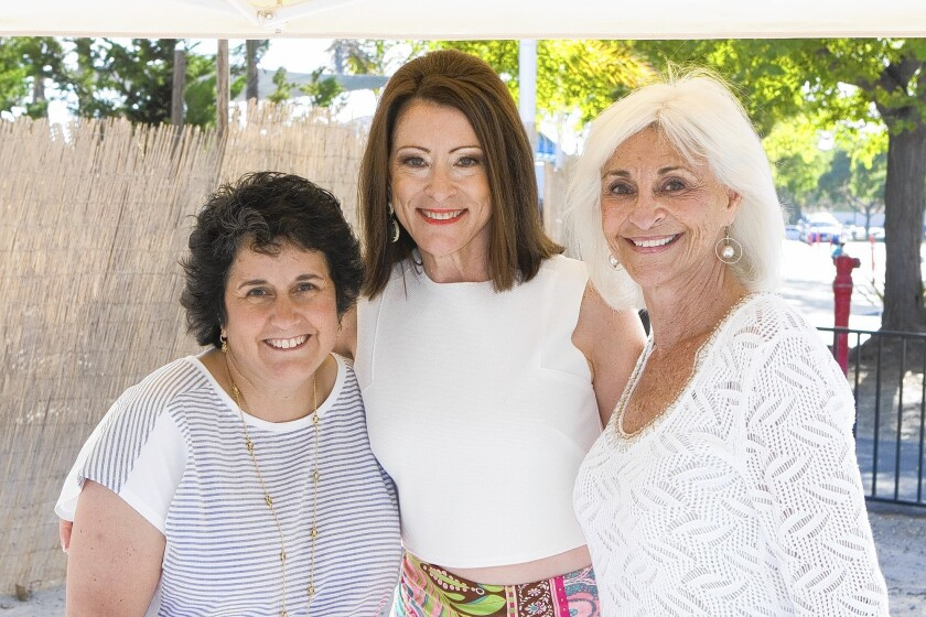 Lori Irving, Sarah Corrigan and Barbara Eidson were co-chairs of the Children's Bureau Clambake.