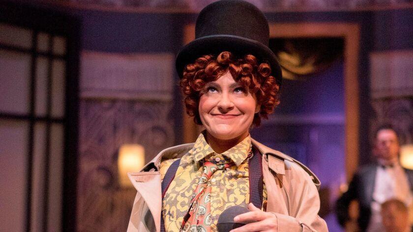"Samantha Wynn Greenstone in Cygnet Theatre's ""Animal Crackers."""