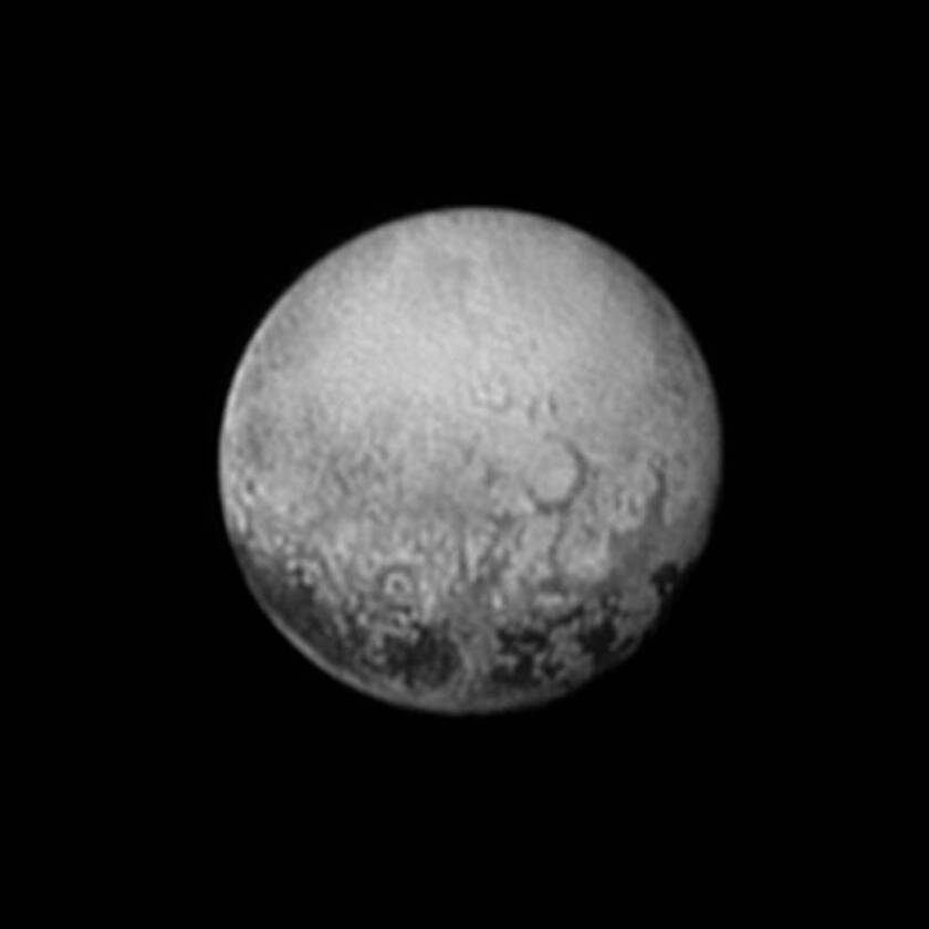 Pluto's mysterious spots