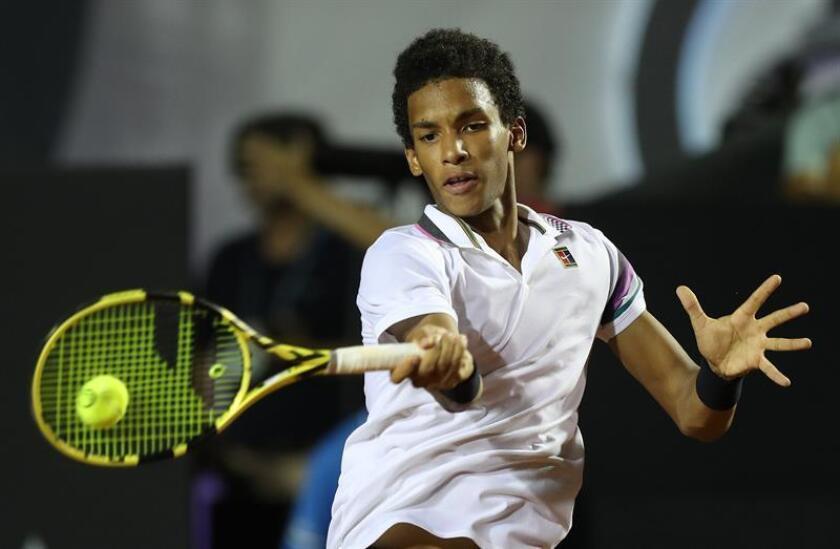 En la imagen, el tenista canadiense Felix Auger Aliassime. EFE/Archivo