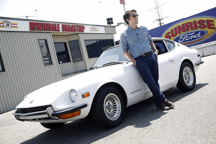 Reporter Daniel Miller raced his Datson 240Z down the eighth-mile strip at Irwindale Speedway.
