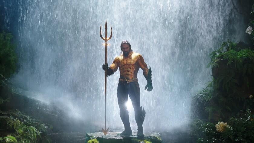 JASON MOMOA as Aquaman in Warner Bros. Pictures? action adventure ?AQUAMAN,? a Warner Bros. Picture