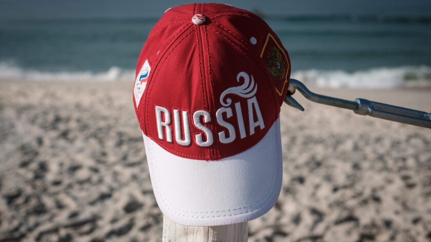 View of a cap of Russia at Pepe beach in Rio de Janeiro on Tuesday.