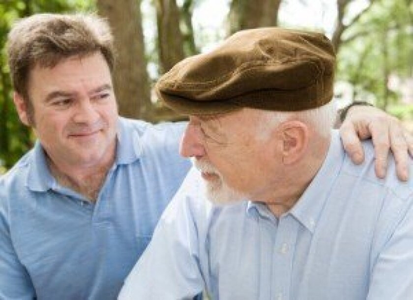Men caring for aging loved ones are at a higher risk for eldercare stress.