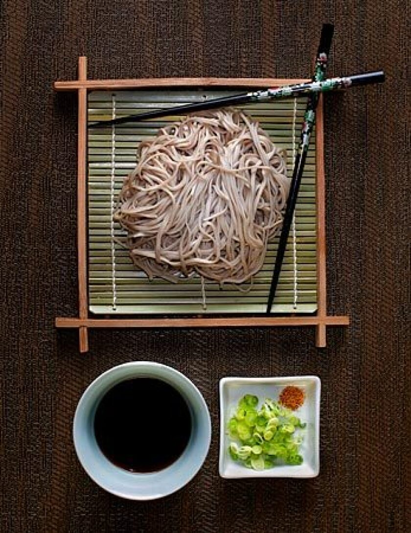 On New Year's Eve in Japan, soba is eaten as a symbol of longevity.