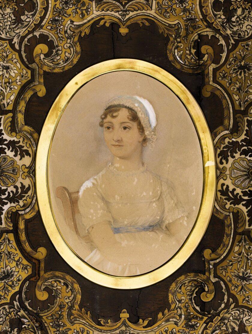 Jane Austen in an 1869 watercolor portrait.