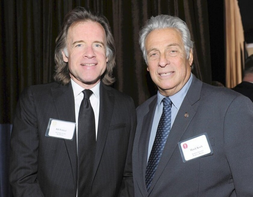 Producers Bill Pohlad, left, and Hawk Koch attend the 84th Academy Awards Nominations Luncheon in February 2012.