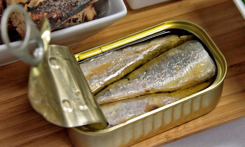 Hungry yet? A beautiful can of sardines.