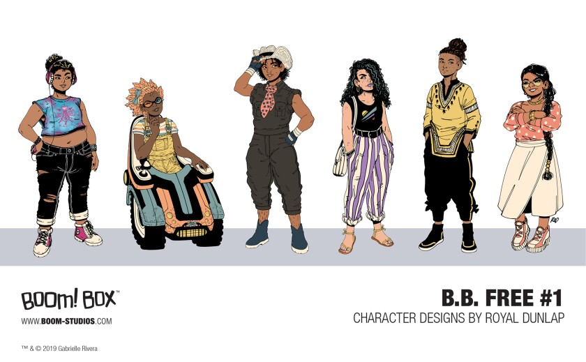 Illustration of characters from 'b.b. free'
