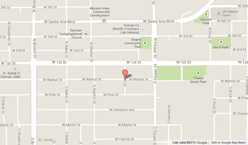 The body of a 24-year-old Santa Ana man was found in the 1000 block of Walnut Street in Santa Ana.