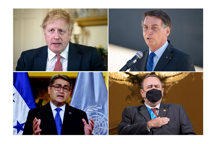 Leaders who have contracted the coronavirus