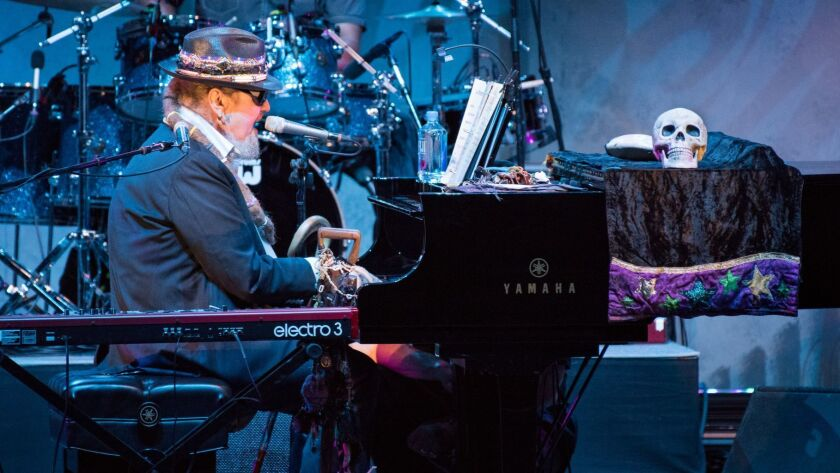 LOS ANGELES, CA - JULY 20, 2016: Dr. John & the Nite Trippers perform at a posthumous tribute concer