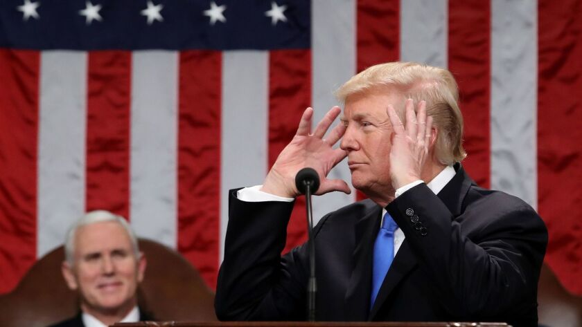 Trump addresses Congress during his State of the Union address.