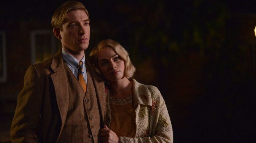 "Domhnall Gleeson and Margot Robbie in ""Goodbye Christopher Robin."""
