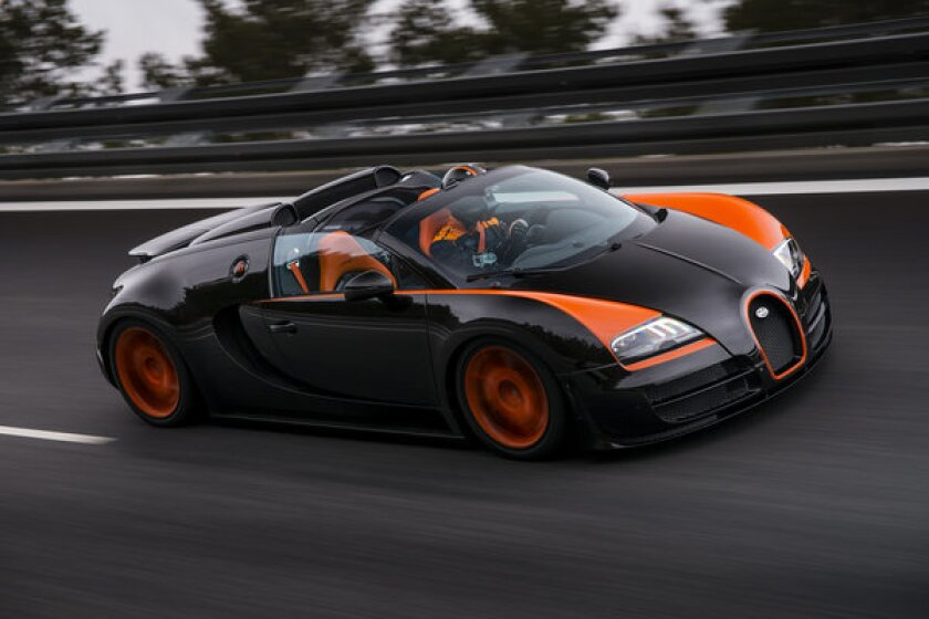 Bugatti said its 1,184-horsepower Grand Sport Vitesse set the world record for fastest open-top production sports car on a test track in Germany.