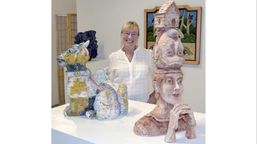 Providing some of the show's most whimsical, creative and colorful creations is ceramic sculp