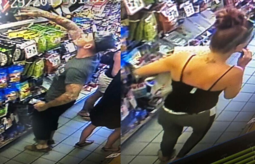 San Diego robbery detectives believe this duo held up clerks at gunpoint at two San Diego businesses Sunday and Monday.