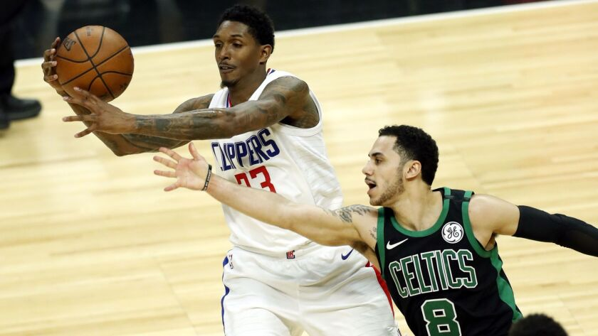 Boston Celtics vs Los Angeles Clippers, USA - 24 Jan 2018