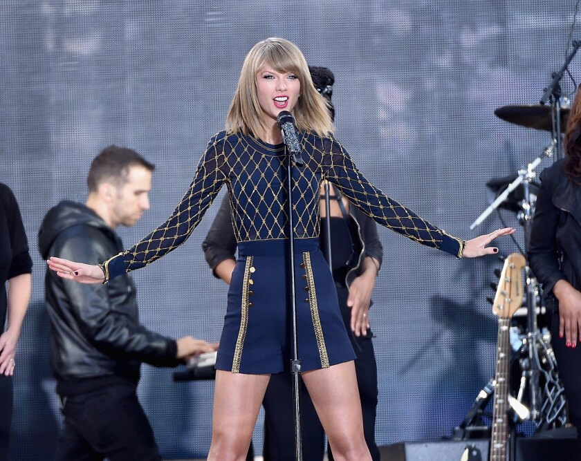 Taylor Swift Unveils 1989 World Tour Exits Spotify Los Angeles Times