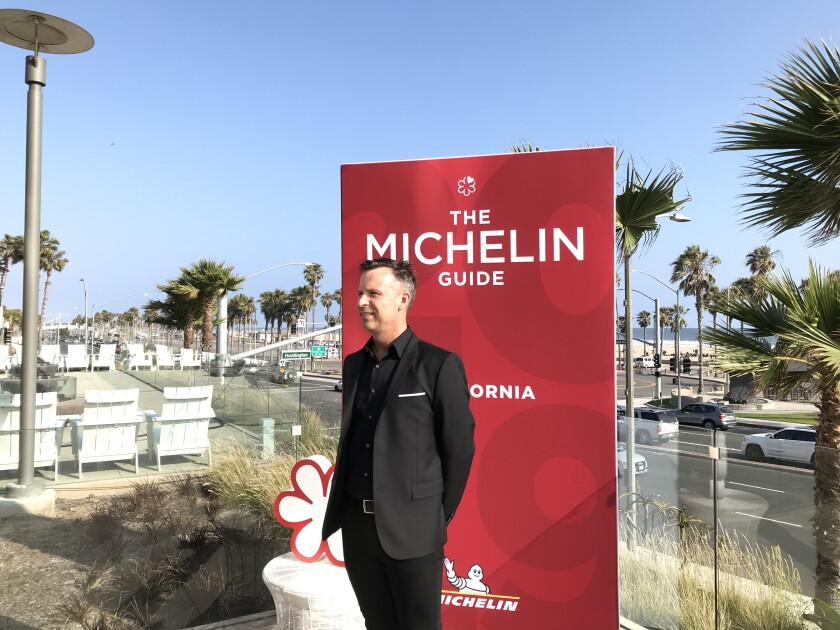 Addison chef William Bradley, who was awarded a Michelin star at the California guide release party in Huntington Beach Monday.