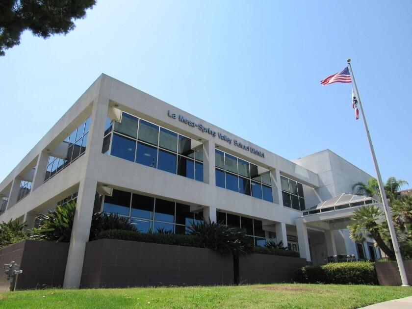 The La Mesa-Spring Valley School District building.