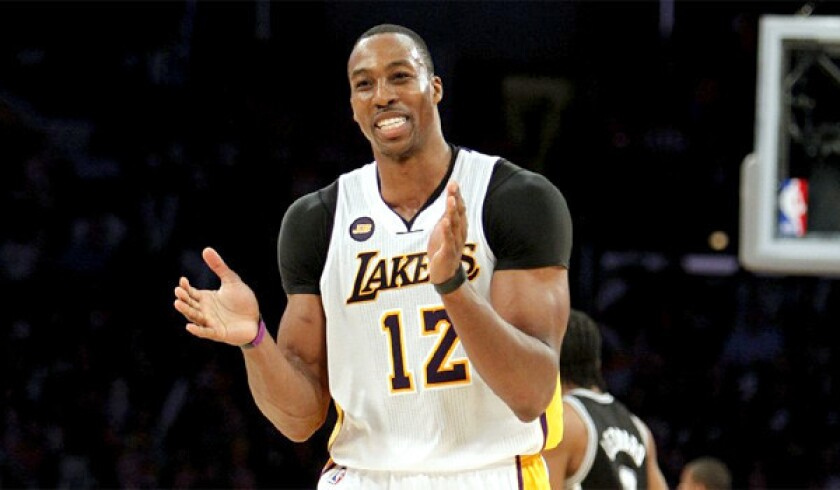 Lakers center Dwight Howard spent most of the NBA hiatus at a home he owns in the Atlanta area.