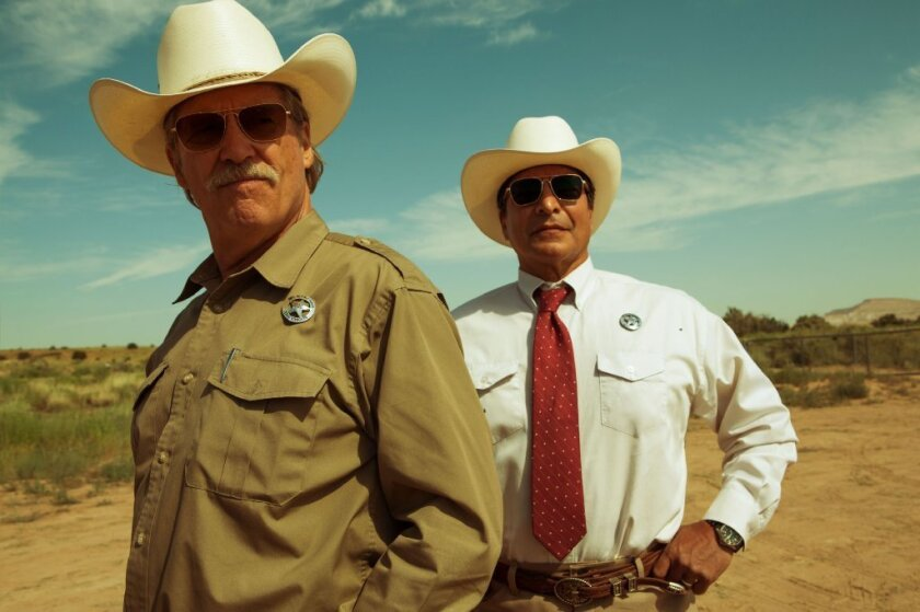 """Jeff Bridges, left, and Gil Birmingham in """"Hell or High Water."""""""