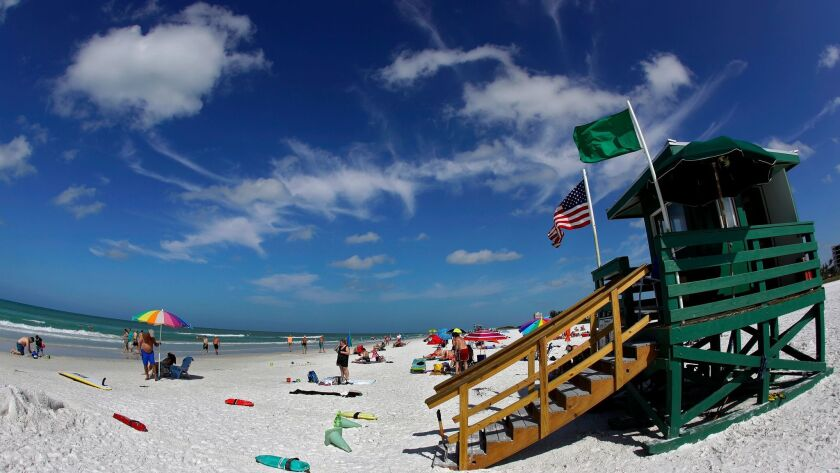 This May 18, 2017 photo shows Siesta Beach on Siesta Key in Sarasota, Fla. Siesta Beach is No. 1 on