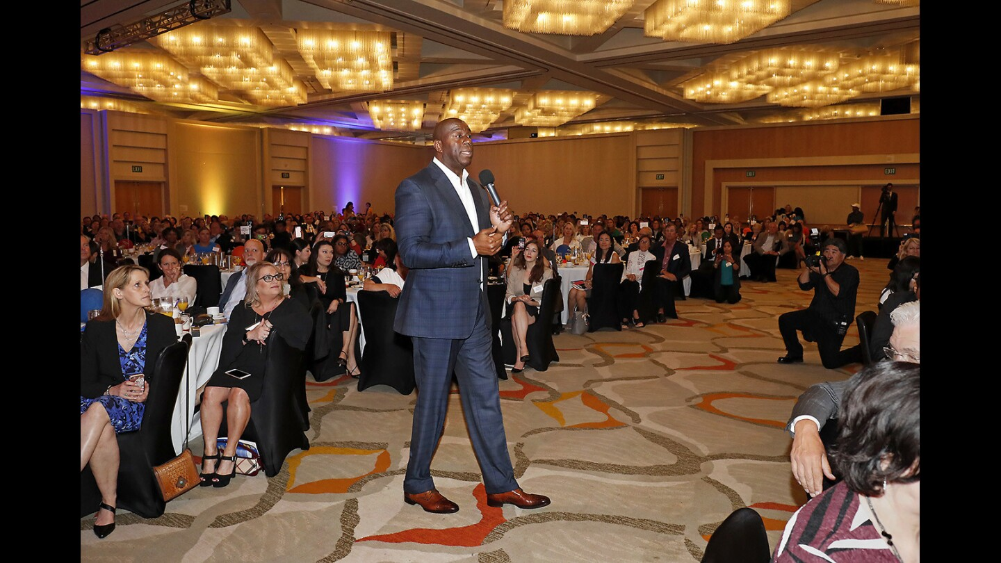"""Photo Gallery: Earvin """"Magic"""" Johnson speaks at the 15th annual Women's Philanthropy Fund breakfast"""