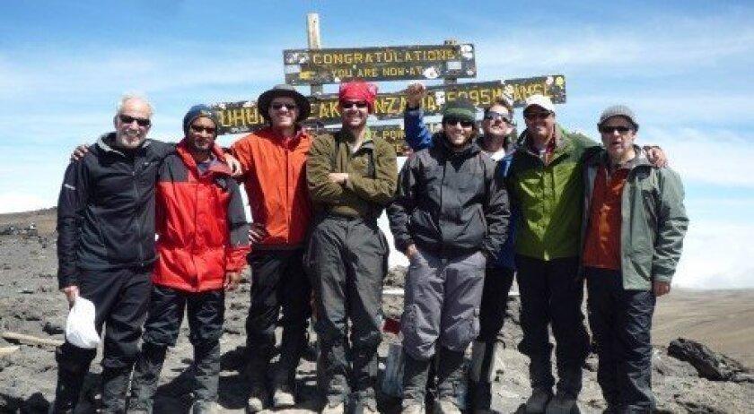 John with team Del Mar at at the Kilimanjaro summit, Tanzania