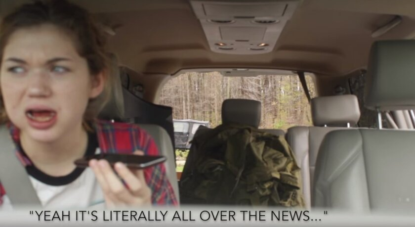 """This photo comes from Youtube user Cabot Phillips' video called """"Brothers Convince Little Sister of Zombie Apocalypse."""""""