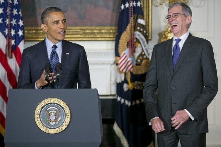 President Obama and Tom Wheeler