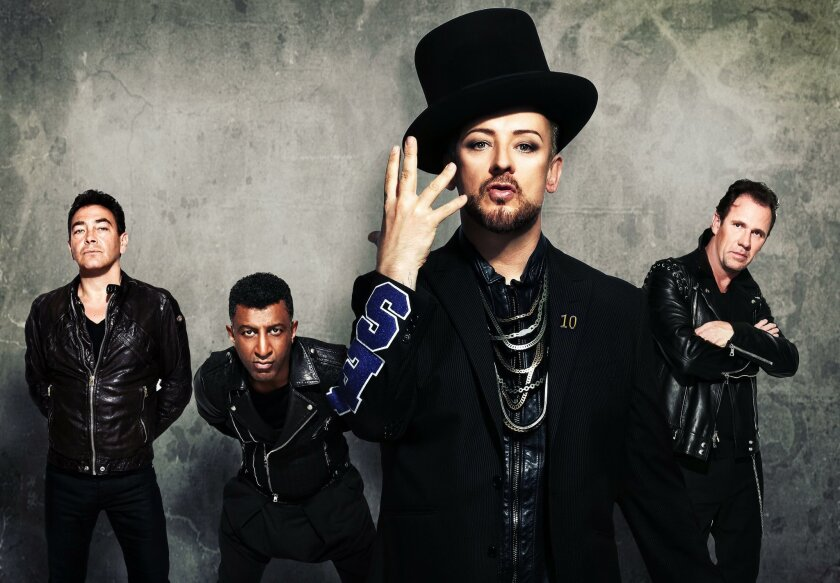 Boy George, second from right, and Culture Club.