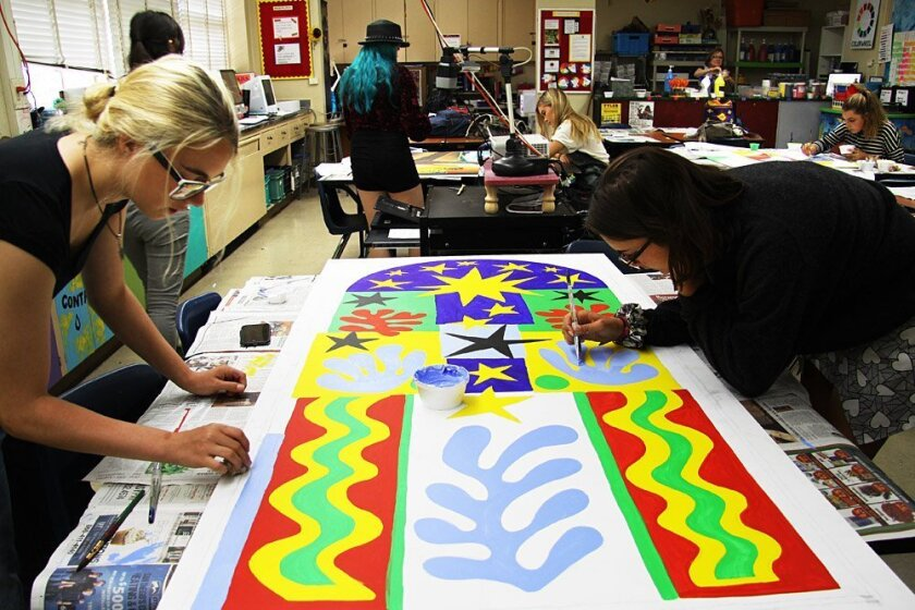 Students work on the Matisse
