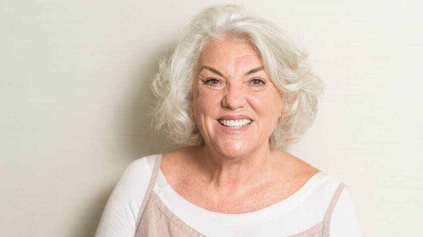 Tyne Daly photographed in Atlanta, where's she's filming the next Spider-Man movie.