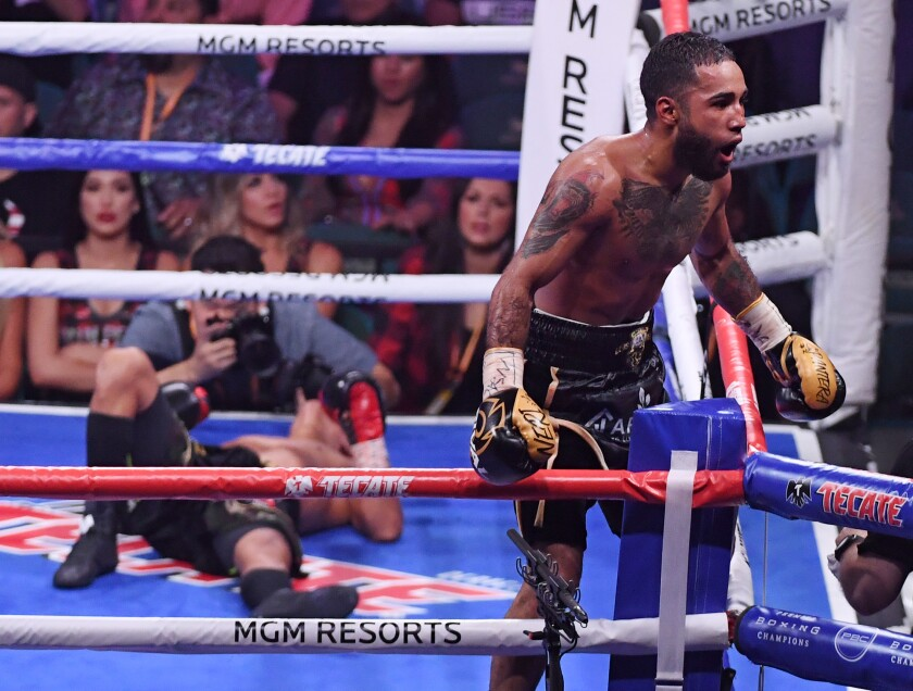 LAS VEGAS, NEVADA - JULY 20: Luis Nery (R) celebrates his ninth-round knockout victory over Juan Carlo Payano in their bantamweight bout at MGM Grand Garden Arena on July 20, 2019 in Las Vegas, Nevada. (Photo by Ethan Miller/Getty Images) ** OUTS - ELSENT, FPG, CM - OUTS * NM, PH, VA if sourced by CT, LA or MoD **