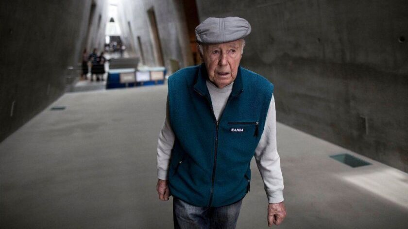 Simcha Rotem is seen during a visit to the Yad Vashem Holocaust Memorial Museum in Jerusalem on Jan. 27, 2014.