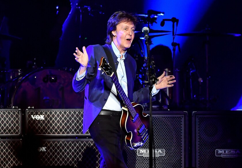 Paul McCartney performs in Fresno on Wednesday to kick off his One on One tour.