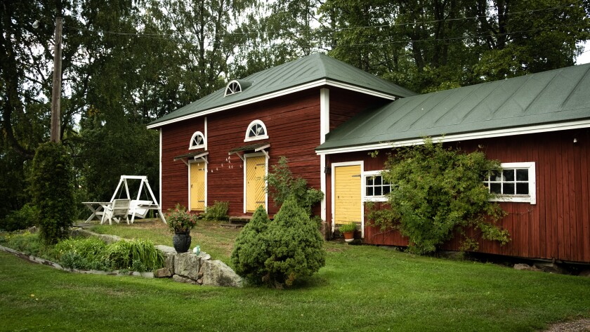 Countryside guestrooms at Töyrylä Manor built in 1879.