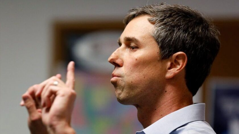Beto O'Rourke speaks at a union hall in Burlington, Iowa. He announced Thursday that he's seeking the 2020 Democratic presidential nomination.