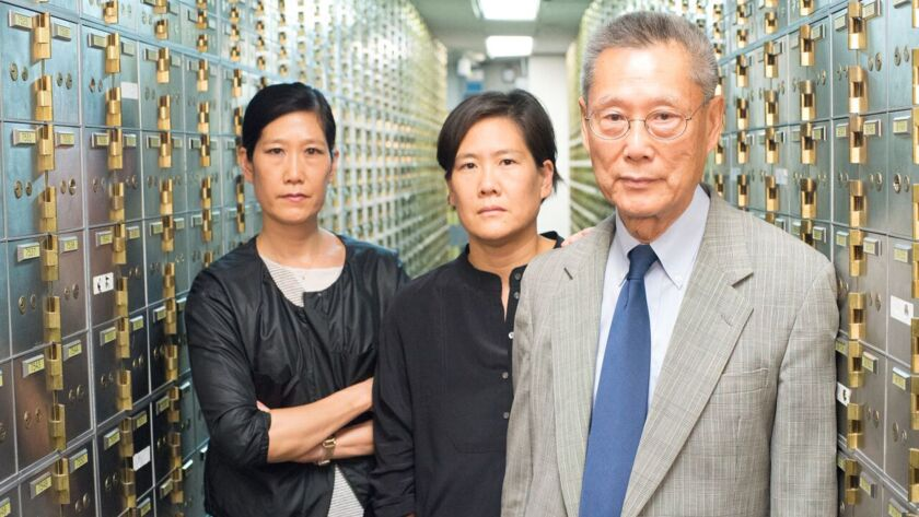 "Vera Sung, Jill Sung and Thomas Sung in the documentary ""Abacus: Small Enough to Jail."" Credit: Sean"