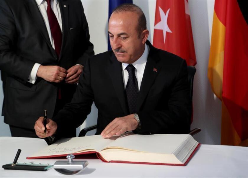 El ministro turco de Exteriores, Mevlut Cavusoglu. EFE/Archivo