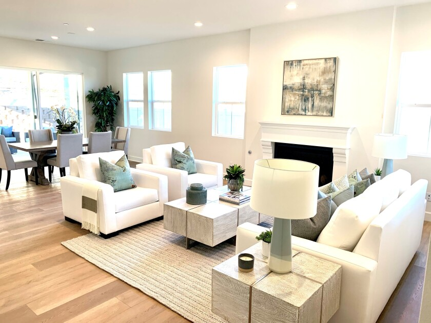 The gated community of Carriage Hill in Bonita has one- and two-story floor plans.