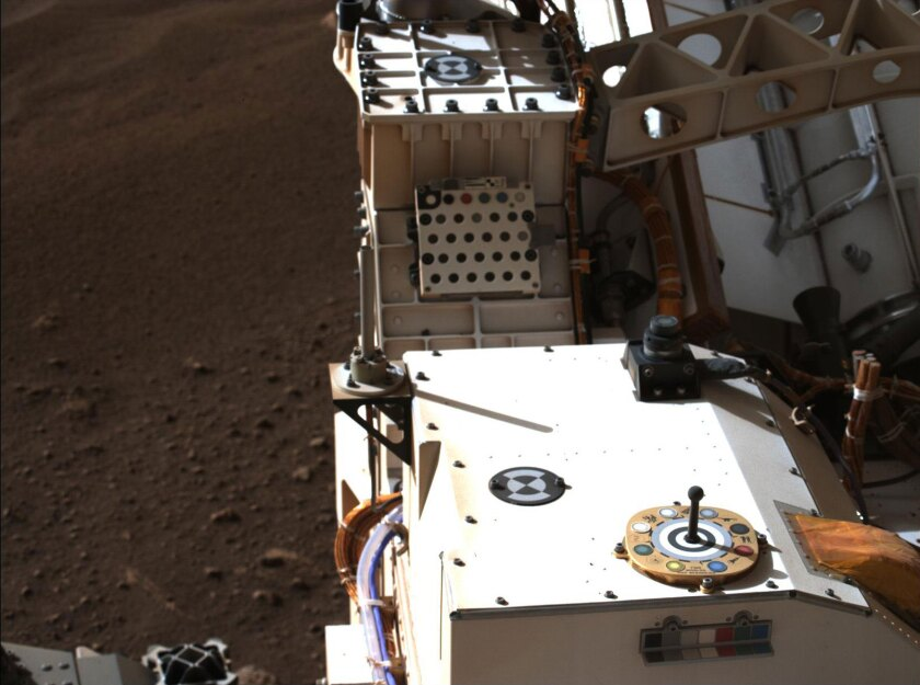 A pair of zoomable cameras aboard NASA's Perseverance rover.