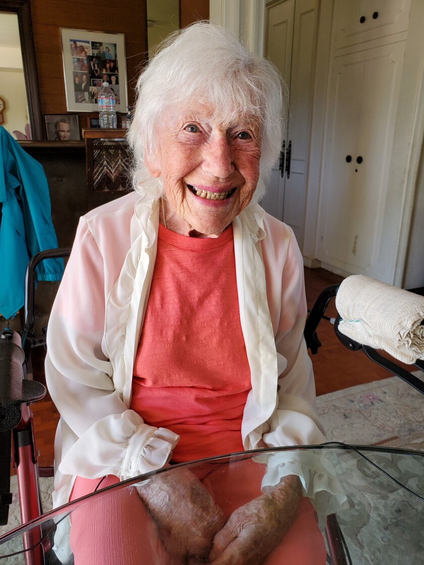 Patricia Weber, 104, has written three novels, an autobiography and a booklet of short stories since moving to La Jolla.